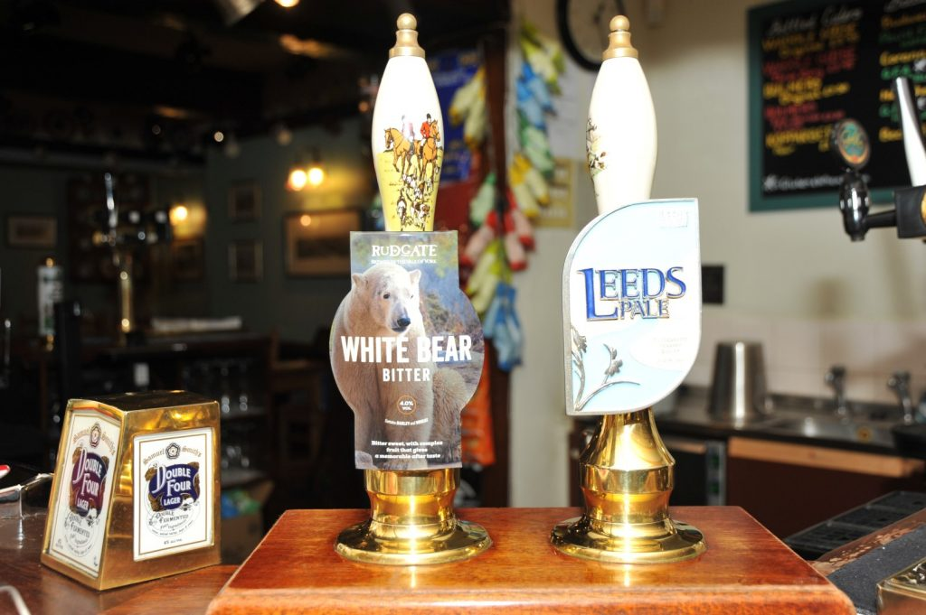Traditional Ales At the White Bear Inn Bar