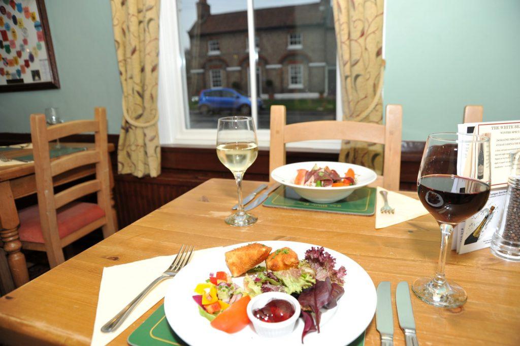 Food at The White Bear Inn